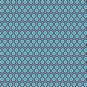 Hexagon Blue Small