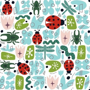 Retro Ladybugs and Vintage Friends