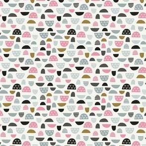 Geometric Colorful Mushroom Hat White / Small Scale