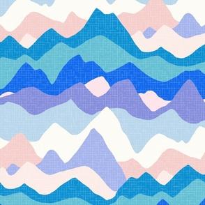 Mountain Range XL wallpaper scale blue by Pippa Shaw