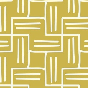 Chart A Course - Geometric Citron Yellow Large Scale