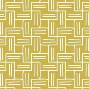 Chart A Course - Geometric Citron Yellow Regular Scale