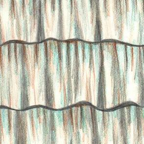 Trompe l'oeil hand drawn ruffles