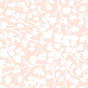 White flowers on pink 10 inch