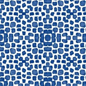 Blue square splotches