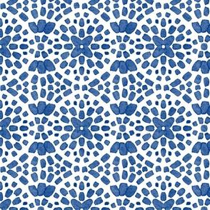 Blue mosaic tile
