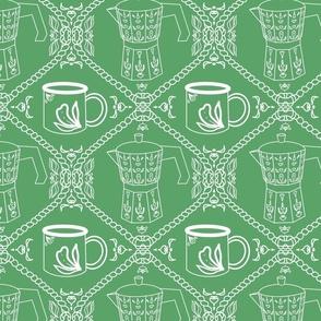 Coffee on green
