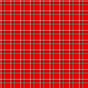 bright red tartan