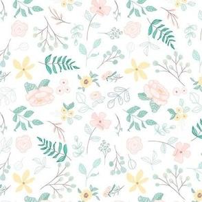 Meadow florals 9 x 9 invh