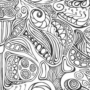 Subconscious Garden - A 'Color Me' Fabric