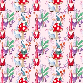 Magical Little Gnomes on Pink