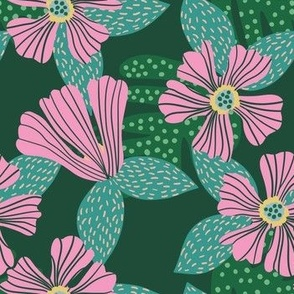 Hibiscus Midnight Green