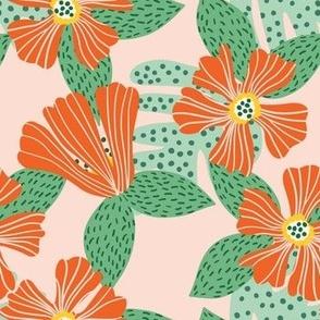 Hibiscus Orange Red