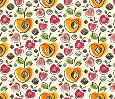 Retro Cherries and Peaches