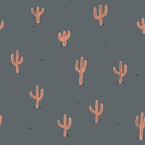 Saguaro (gray and pink)