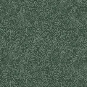 Ehpopoki Floral, green