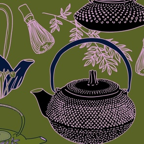 Japanese Vintage Teapot on matcha large