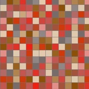 Tangerine Mosaic medium scale bold tiles morocco spanish home decor