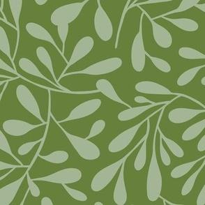 Breeze - Botanical Tonal Green Large Scale