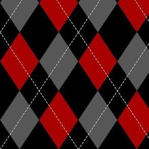red-black-grey argyle PATTERN