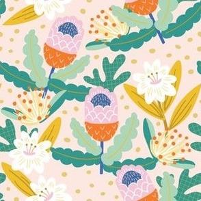 Wild Flowers Creamy Pink