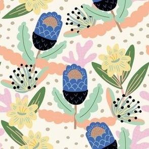 Wild Flowers Blue Pops