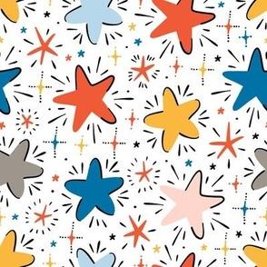 colorful stars pattern