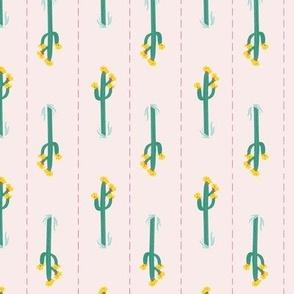 Saguaro Stripes on Soft Pink