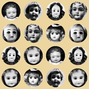 Doll Face on Beige