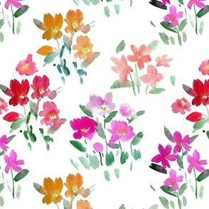 dolce meadow - watercolor wild flowers a345-1