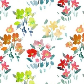 dolce meadow - watercolor wild flowers a345-2