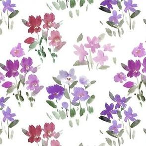 dolce meadow - watercolor wild flowers a345-5