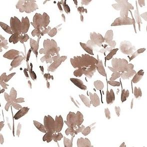 Earthy dolce meadow - watercolor wild flowers a345-6
