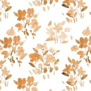 Mustard dolce meadow - watercolor wild flowers a345-11