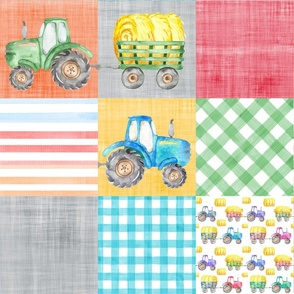 tractor cheater quilt multicolored