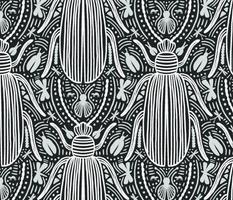 Vintage bug damask