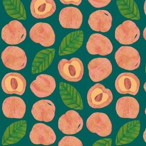 Peaches and Lemon Basil - Emerald