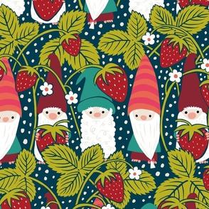 Strawberry Gnomes // Blue // Large