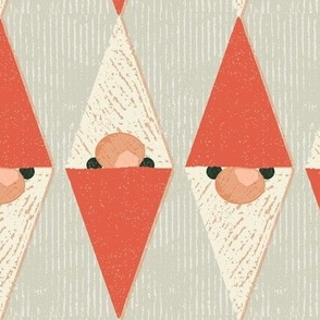 christmas gnome diamonds khaki large scale