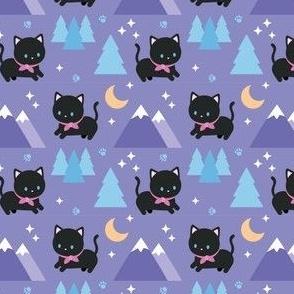Meowtain black cat