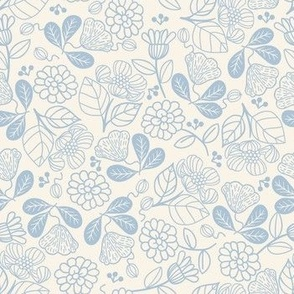 Petunias Classic White Blue
