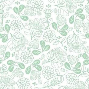 Petunias Calm Green
