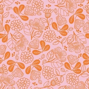 Petunias Summer Orange
