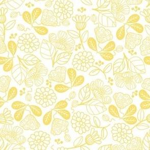 Petunias Lemon Yellow