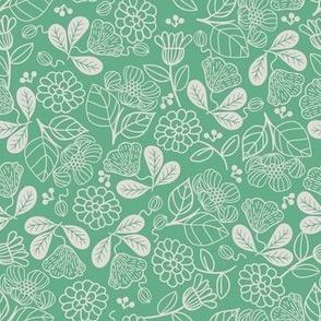 Petunias Grass Green