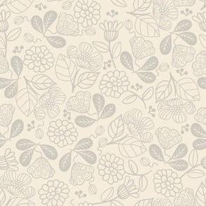 Petunias Vintage Cream
