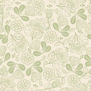 Petunias Sage Green