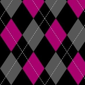 pink-black-grey argyle PATTERN
