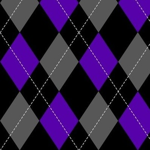 purple-black-grey argyle PATTERN