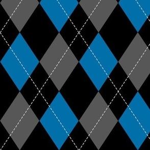 blue-black-grey argyle PATTERN